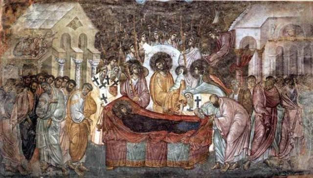 Kompozicija Uspenje Presvete Bogorodice, koja je naslikana na površini od četrdeset metara kvadratnih
