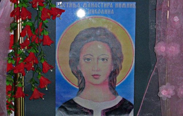 Devojcica - svetica i zaštitnica manastira Nimnik