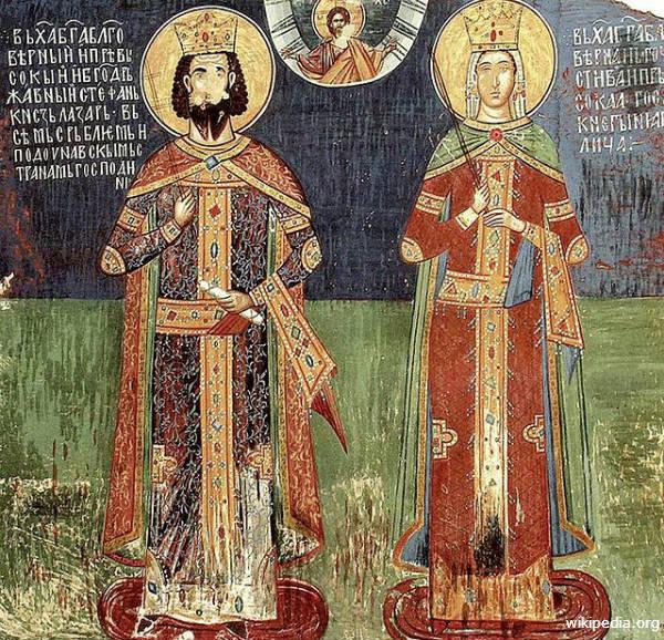 Knez Lazar i kneginja Milica