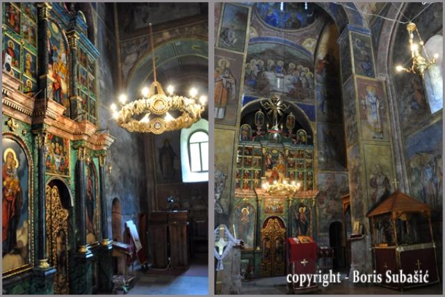 Prizor iz unutrašnjosti manastira